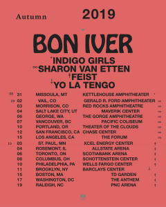 Bon Iver New Tracks and North American Tour Dates